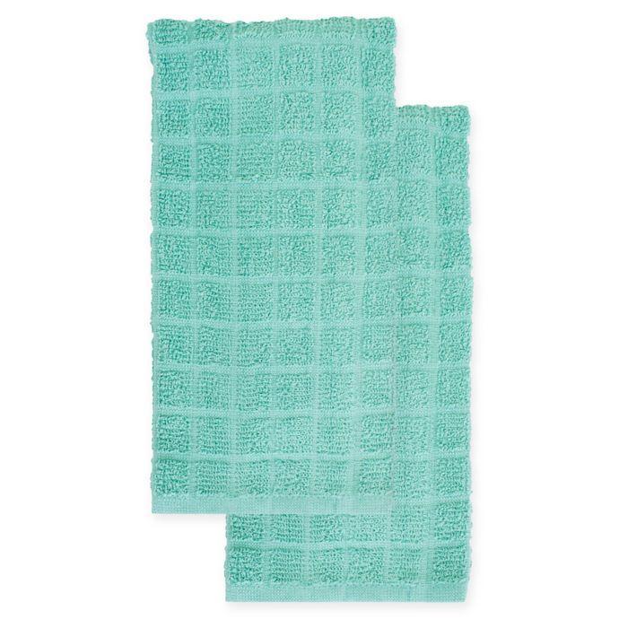 Kitchensmart Colors 2 Pack Solid Kitchen Towels Bed Bath