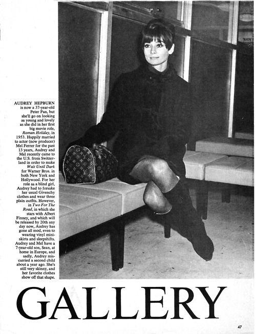 Audrey Hepburn with louis vuitton, 1967.