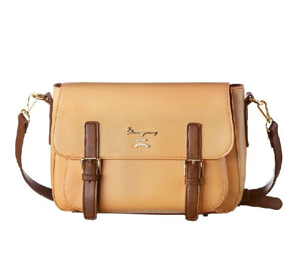[$19.73]Vintage messenger bag buckle stylish preppy style GD-X1248