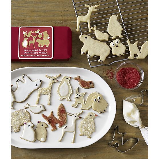 7-Piece Critter Cookie Cutter Set by Crate and Barrel