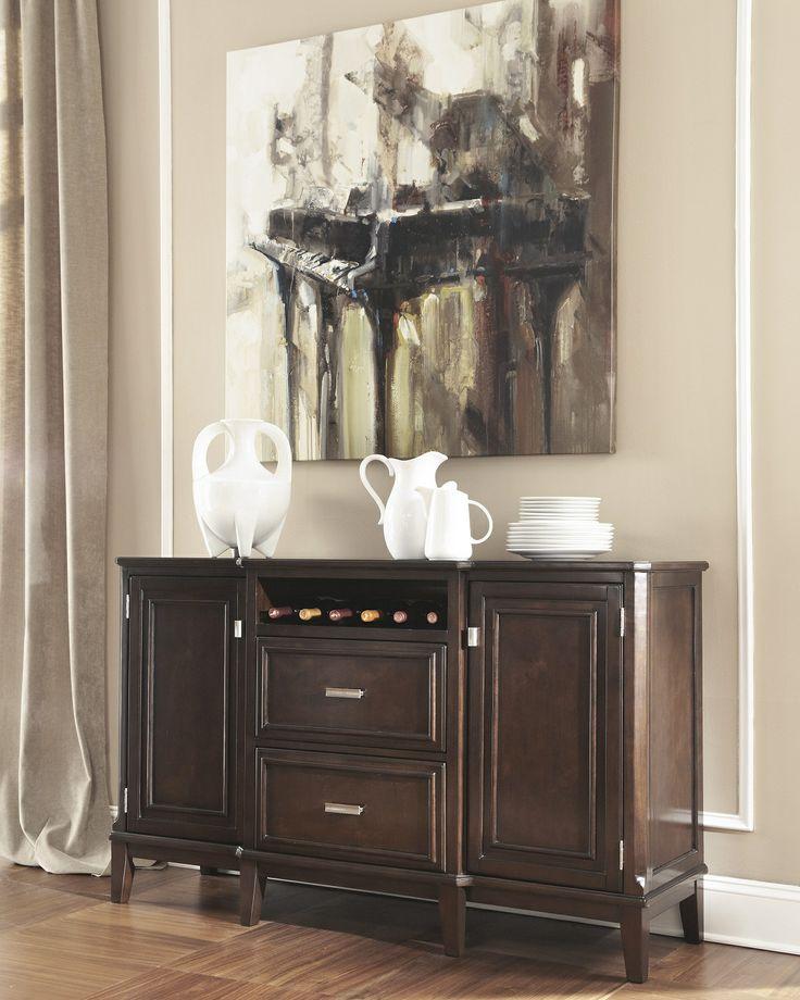 Home Decor Liquidators Memphis: Larimer Contemporary Server In Dark Espresso D654-60