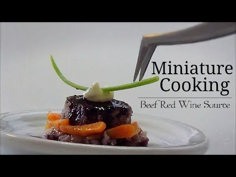 【Full】Mini Food #94 ミニチュア料理 『Beef Red Wine Sauce』 【Quality】 How to make  Tiny Food Miniature food - YouTube