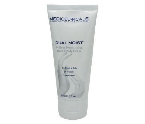Mediceuticals Dual Moist hydraterende handcrème + bodycrème voor droge & geïrriteerde huid | De Gezonde Bron, dé webshop voor natuurlijke verbetering van uw gezondheid.