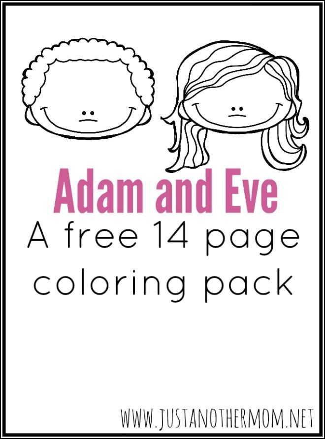 Adam Eve Coloring Pages Preschool