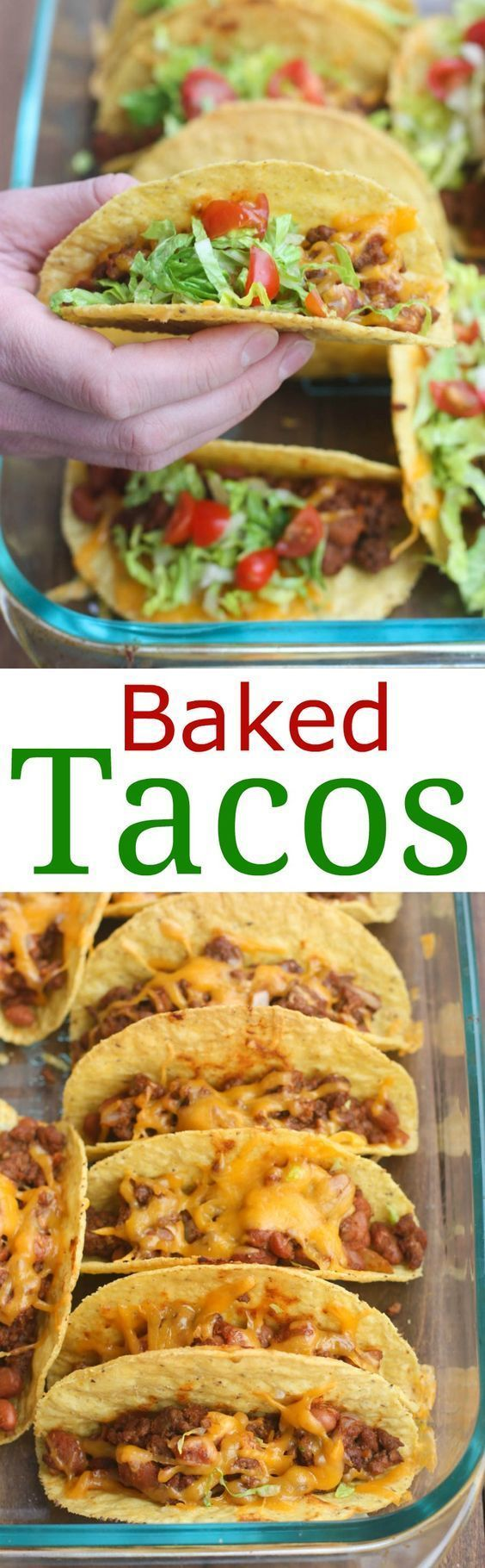 Oven Baked Tacos are soo easy and always a family favorite! Cheesy, crispy baked tacos with the best homemade taco filling (no packet seasoning!). | Tastes Better From Scratch