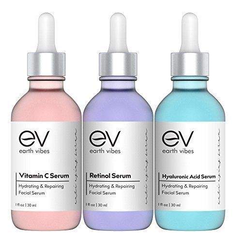 Anti Aging Serum Set – Skin Care Combo Pack – Vitamin C Serum – Retinol Serum – Hyaluronic Acid Serum – Anti Wrinkle Serums – Dark Circle & Spot Remover – Acne Scars, Age Spots – Brightening – (3x1oz