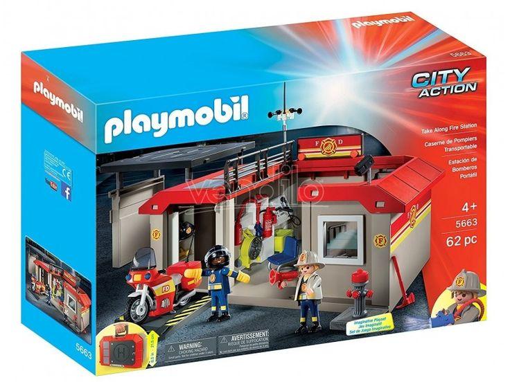 PLAYMOBIL 5663 Valigetta Stazione dei Pompieri portatile - Vendilo Shop San Marino