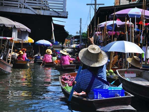 The Floating Market, Bangkok, Thailand.