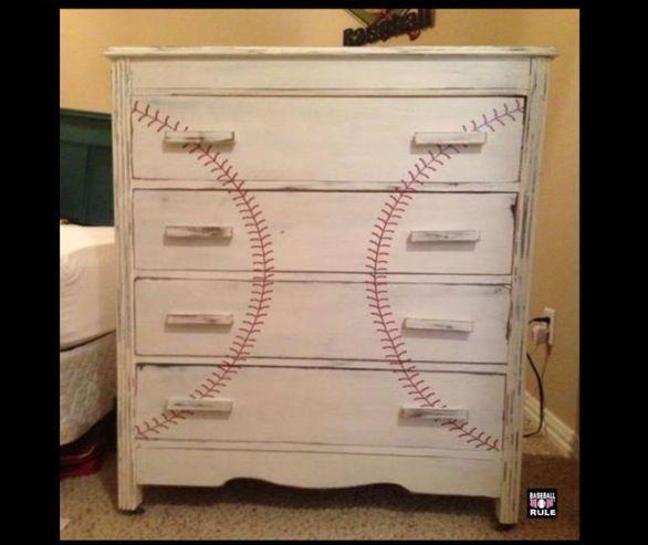 Baseball dresser, so cute