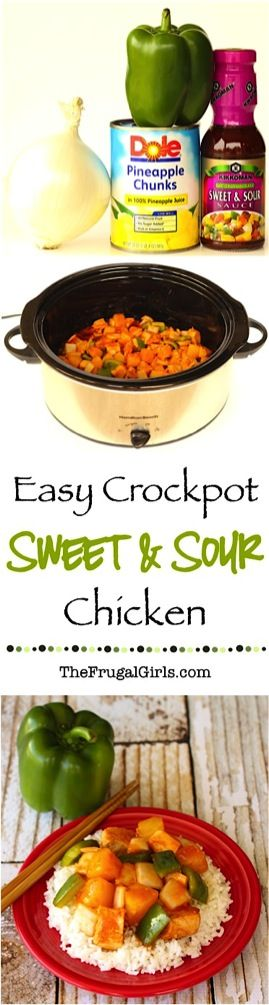 Easy Slow Cooker Sweet and Sour Chicken Recipe