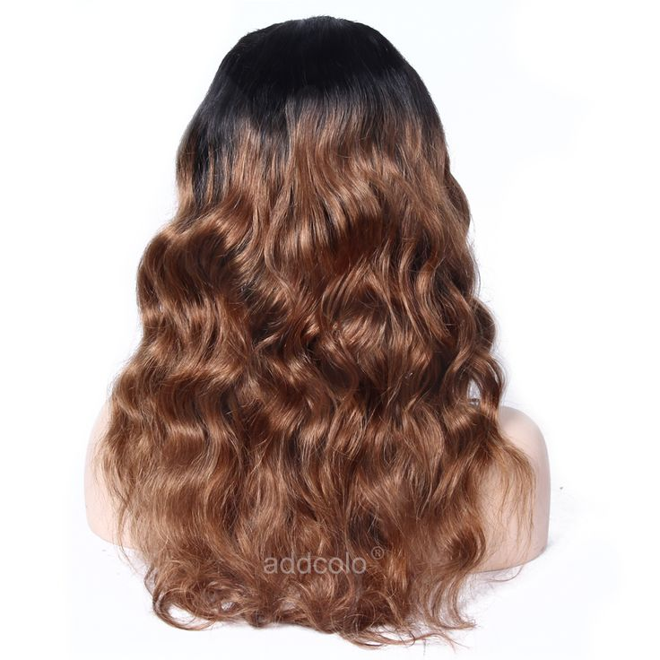 U Part Wig Brazilian Hair Natural Wave Wig 1B/30 Ombre