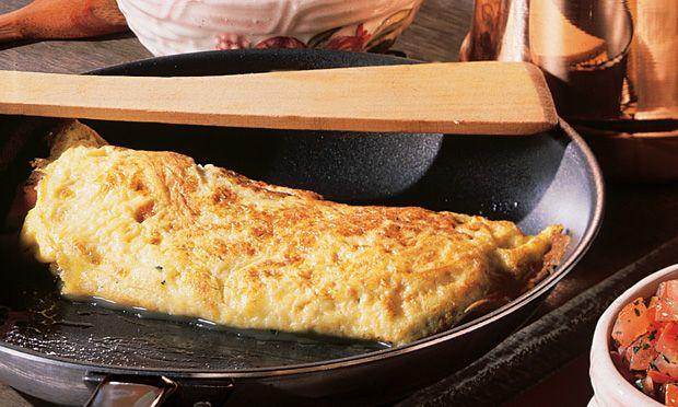 Receita de Omelete de tomate e manjericão - Omelete - Dificuldade: Fácil - Calorias: 150 por porção