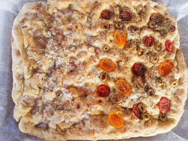 Focaccia σε δύο παραλλαγές - Myblissfood.grMyblissfood.gr