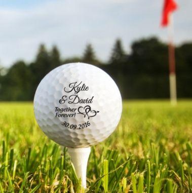 Printed Wedding Golf Balls - PF x