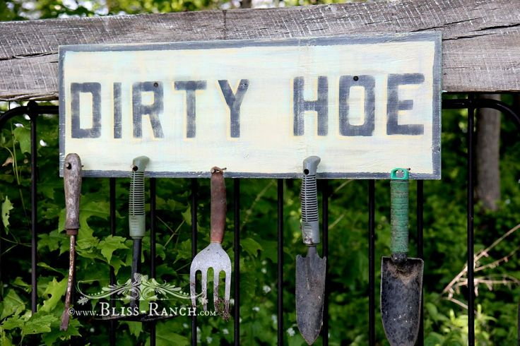 The Dirt On The Potting Bench Sign Bliss Ranch