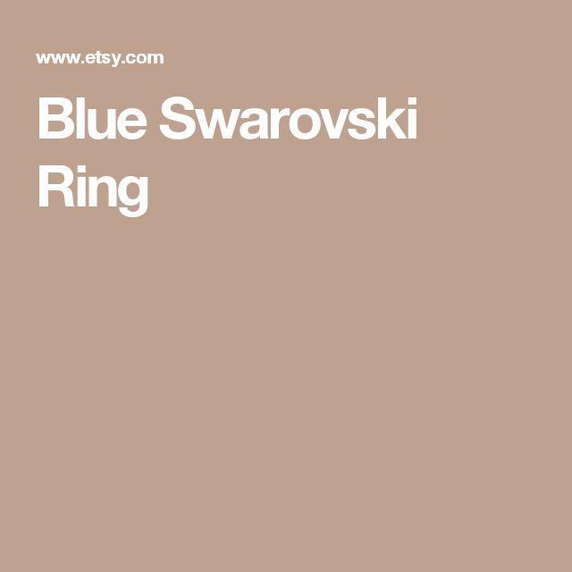 Blue Swarovski Ring