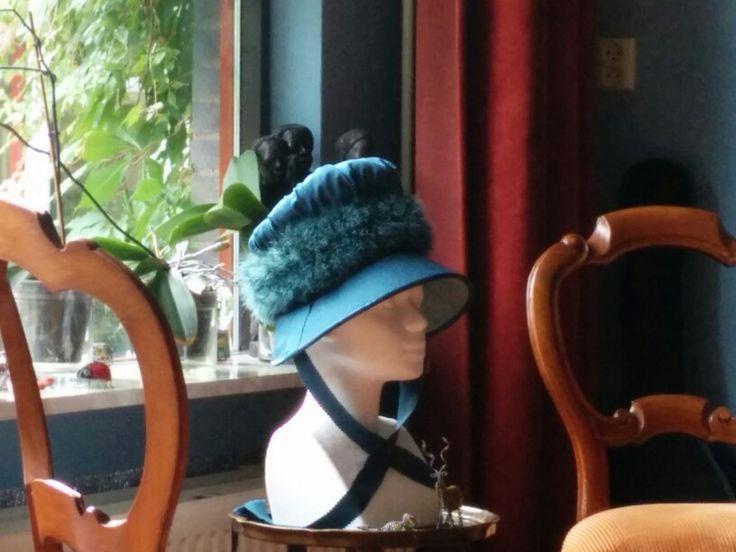 1814 Regency Bonnet. Designed and created by Jeannette de Meyer - Miss Galindo