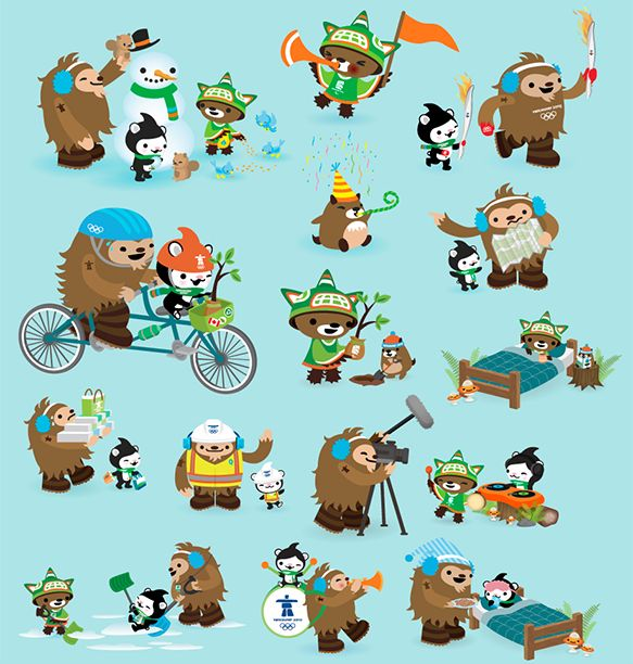 Character Design Vancouver : Best olympic mascots images on pinterest character