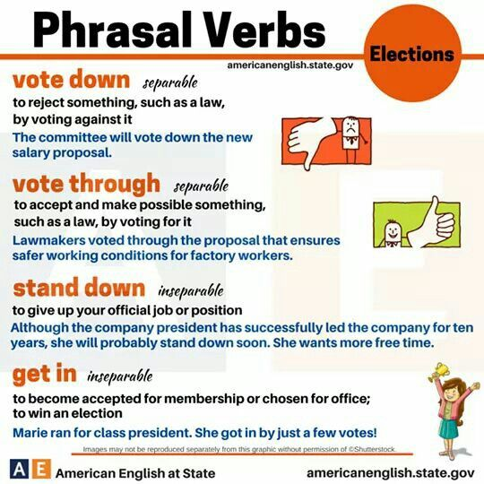 Phrasal verbs about elections