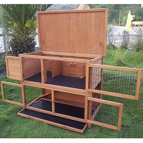 Plans to build a double rabbit hutch woodworking for What is a rabbit hutch