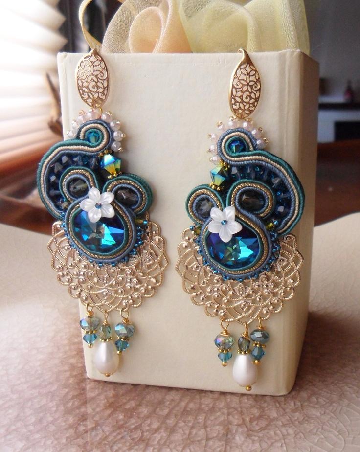 Soutache Earrings Serena Di Mercione Creations