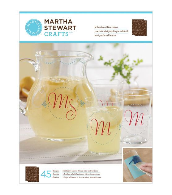 71 best images about glass ideas on pinterest bottle for Martha stewart christmas wine glasses