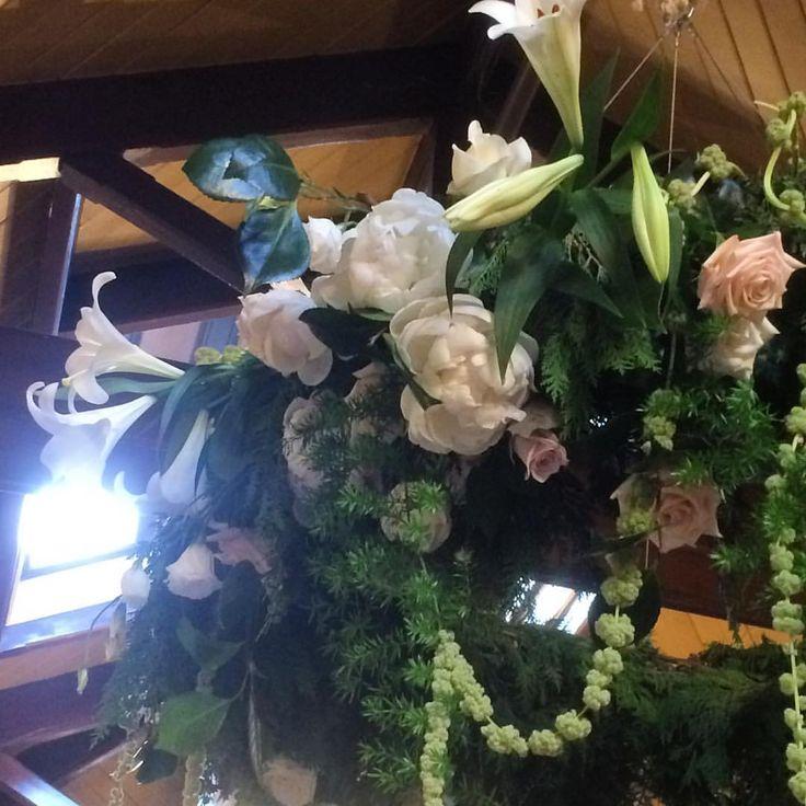 Estelle Flowers Floral Chandelier | Larnach Castle | Michael & Keighley's Wedding | December 2016 | www.estelleflowers.co.nz