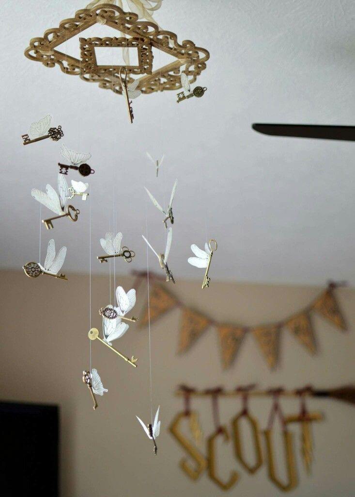 Harry Potter Nursery/Guest Room;  flying keys mobile