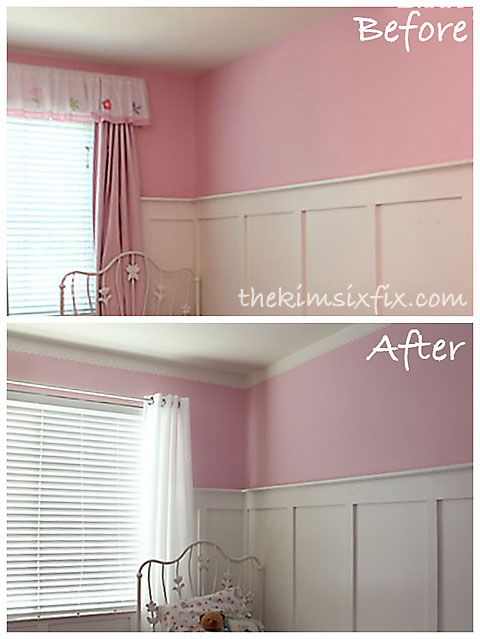 A Painted Faux Eyelet Border Instead Of Crown Molding