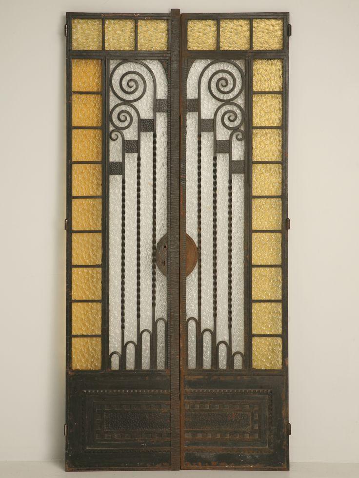 135 best art deco doors windows images on pinterest windows vintage french art deco cast iron and glass doors sciox Images