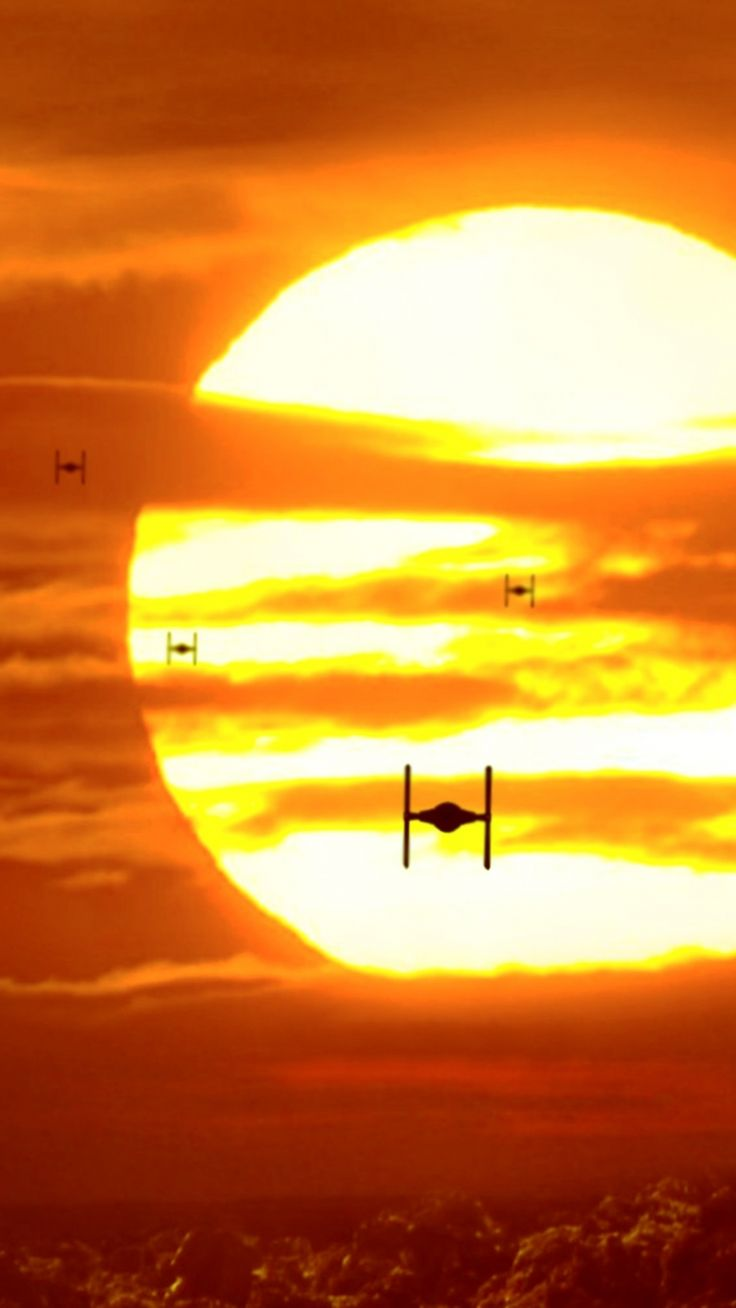 Movie Star Wars Episode VII: The Force Awakens Star Wars Tie Fighter Sunset