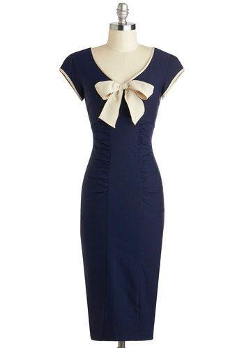 {Sheath a Lady Dress in Navy}