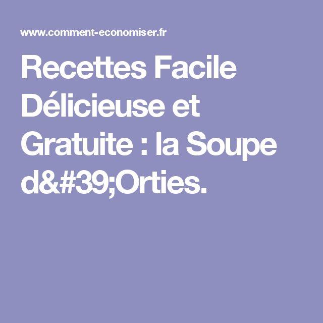 Recettes Facile Délicieuse et Gratuite : la Soupe d'Orties.