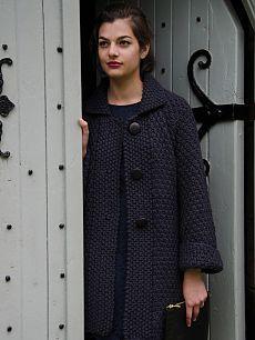 Вязание пальто спицами Holt, Smoulder