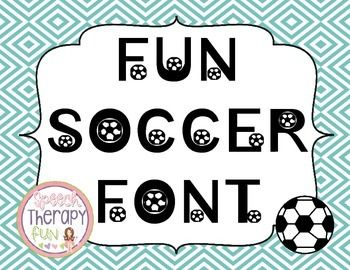 Looking for a sports font to jazz up your worksheets, printables and bulletin boards?  Use this FUN Soccer font to make your classroom work more fun!  Don't know how to install fonts?Go to this website for directions on how to install this FUN Soccer Font.