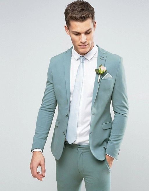 ASOS Super Skinny Suit In Pastel Blue