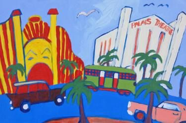 "Saatchi Art Artist SHAUN STAPLETON; Painting, ""THE ESPLANADE ST KILDA MELBOURNE…"