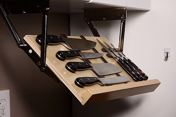 The Ultimate Under Cabinet Knife Storage   The Drop Block
