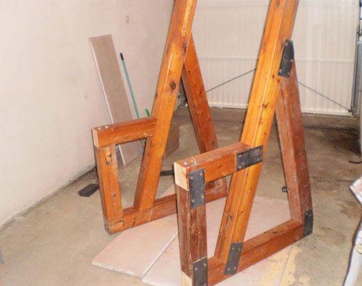 12 best wooden squat rack images on pinterest exercises for Diy squat rack metal
