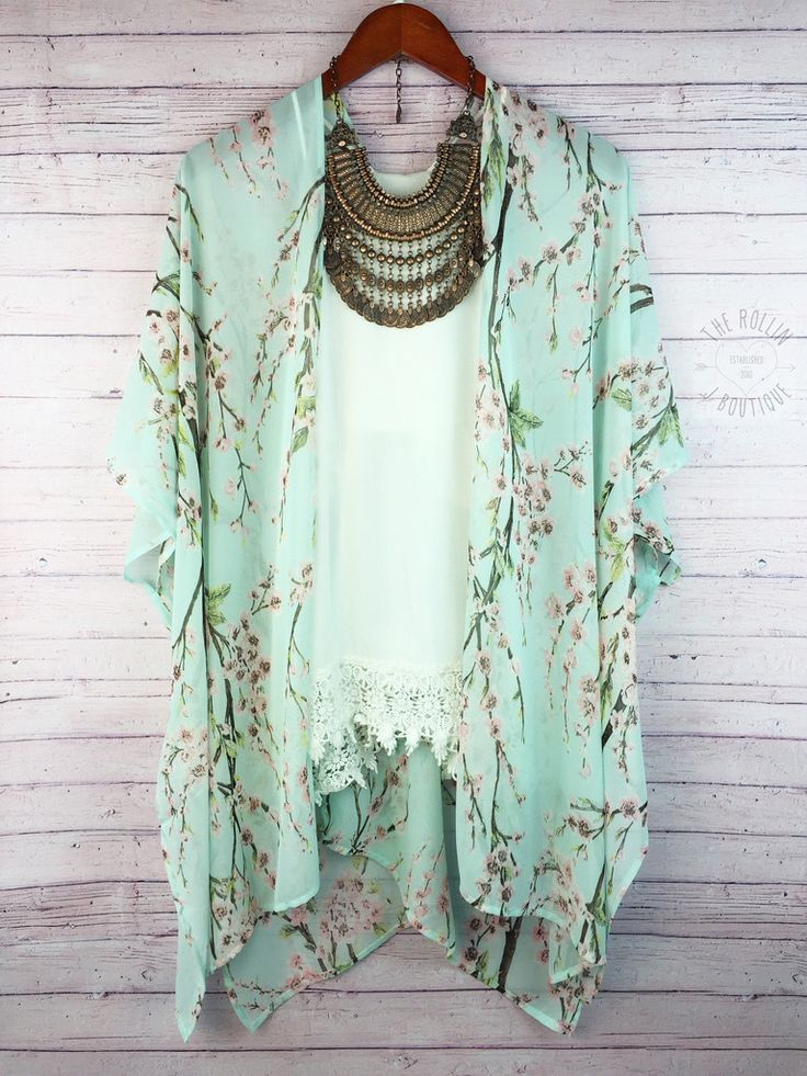 Dear Stylist - If you could send me these pieces I would be thrilled!!! I've been wanting to try a kimono.  These pieces are gorgeous together!!! The tank and necklace are perfect with the kimono.
