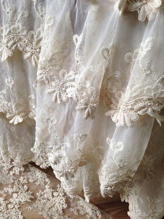 Mariage tissu de dentelle de Français mariée dentelle tissu