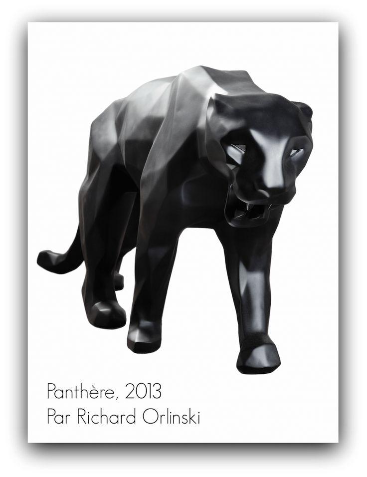 """Le replay du jour, un peu d'art pour bien commencer la semaine ➽ """"Artsper , L'art contemporain à votre portée""""   http://lilipaigedixon.com/magazine/artsper #LPDMagReplay #2014  Bon début de semaine !   A Panthère, 2013 Par Richard Orlinski Proposée par INCEPTION Gallery"""