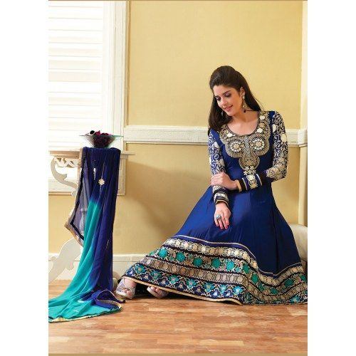 Bewitching Blue Churidar Salwar Suit - Online Shopping for Salwar Suit by Eshan Traders
