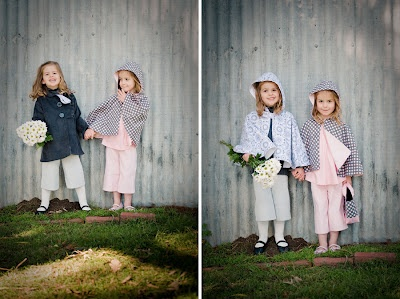 charcoal reversible jacket, grey 3/4 pant, knee high socks, grey and pink dot reversible cape, pink cord 3/4 pant, pink swing top | available from missy melly