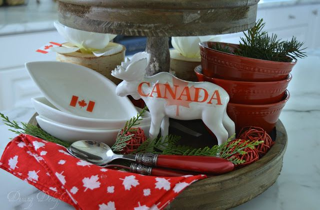 Canada Day Tiered Tray Tiered Tray Tray Summer Centerpieces