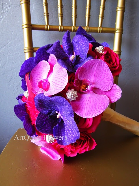 Flower Boquet Ideas from Weddings at The Dana on Mission Bay:: flowers by ArtQuest Flowers and Gifts