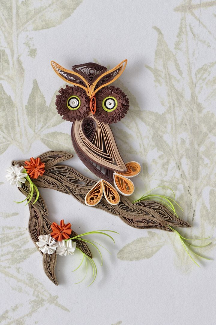 Owl - Tranquillity Quilling Designs by Djay