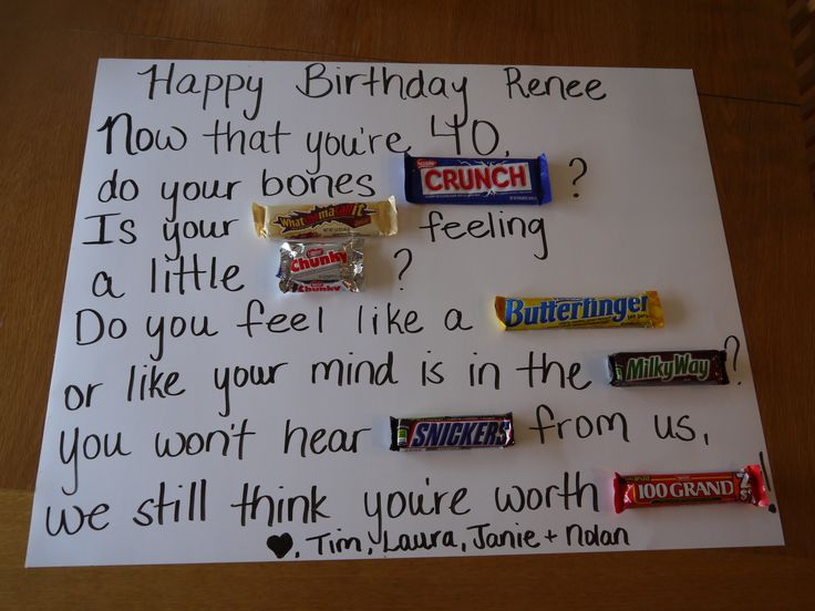 40th Birthday Ideas for Husband | There are also these cute ideas on Pinterest…….
