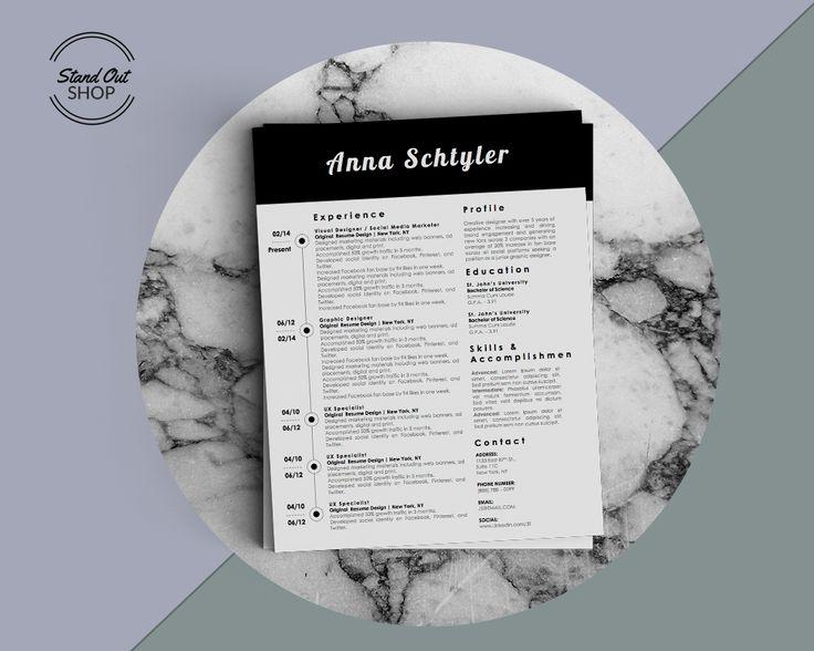 9 best Anna Schtyler Resume Template images on Pinterest Anna - fancy resume template