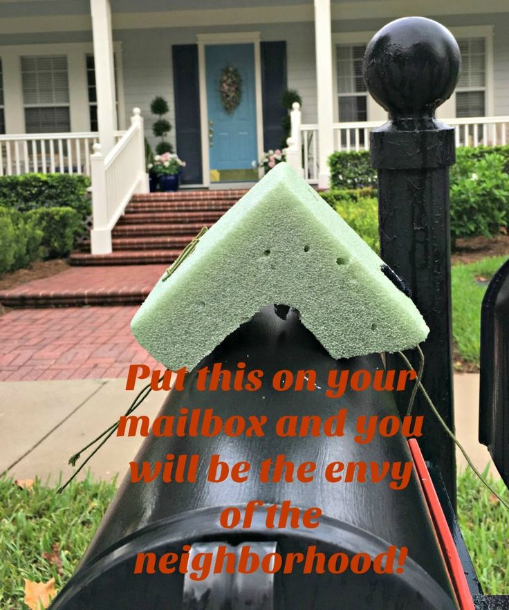 Make this and your mailbox will be the prettiest one on the street this fall!